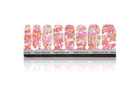 Jinsoon Women's Love Graffiti Nail Decor Orange