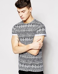 New Look T Shirt With Aztec Print White