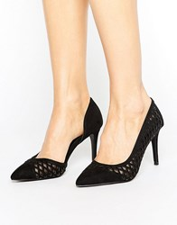 Coast Black Court Shoe Black