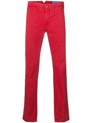 Jacob Cohen Slim Trousers Red