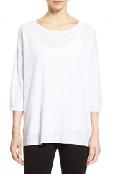 Women's Eileen Fisher Organic Linen And Cotton Tunic White