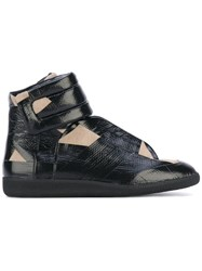 Maison Martin Margiela Future Hi Top Sneakers Men Calf Leather Leather Calf Suede Rubber 39.5 Black