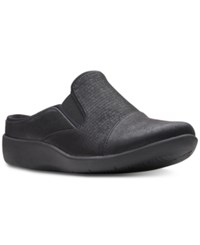 Clarks Collection Cloudsteppers Sillian Free Mules Black