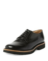 Dries Van Noten Leather Lace Up Oxford Black