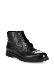 Brioni Good Year Leather Boots Ink