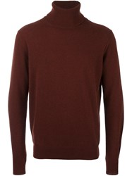 Paul Smith Roll Neck Sweater Brown