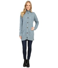 Royal Robbins First Fleet Sweater Coat Robin's Egg Women's Coat Blue
