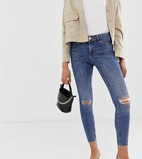 River Island Molly Serena Jeggings In Mid Wash Black