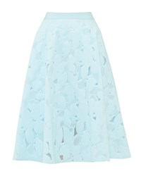 Ted Baker Quinia Burn Out Floral A Line Skirt Pastel Blue