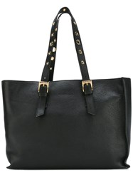 L'autre Chose Eyelet Handle Tote Black
