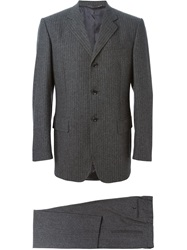Dolce And Gabbana Vintage Pinstripe Suit Grey