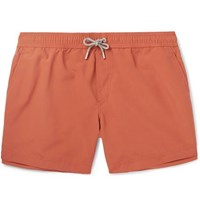 Brunello Cucinelli Slim Fit Mid Length Swim Shorts Orange
