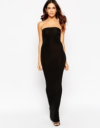 Club L Essentials Tube Maxi Dress In Slinky Black