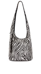 Elizabeth And James Finley Courier Hobo Bag Zebra