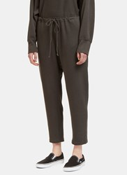 Lauren Manoogian Arch Dropped Crotch Track Pants Grey
