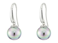 Majorica French Wire Round Pearl Drop Earrings Silver Grey Earring