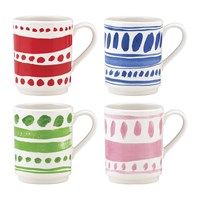 Kate Spade Pretty Pantry Stacking Mugs Set Of 4