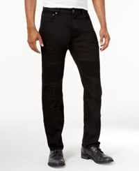 Lrg Men's Payola Tapered Fit Pintucked Jeans Black