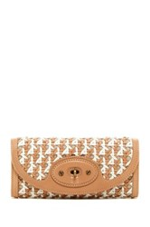 Ugg Woven Trifold Leather Wallet Multi