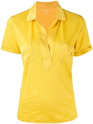 Majestic Filatures Relaxed Polo Top Yellow
