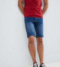 French Connection Tall Denim Shorts Vintage Wash Blue