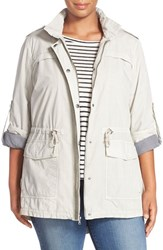 Plus Size Women's Levi's Parachute Hooded Cotton Utility Jacket