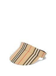 Burberry Icon Stripe Cotton Visor Beige Print