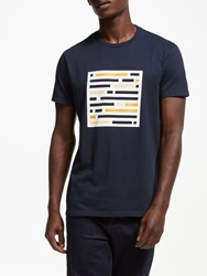 John Lewis Kin By Cut Out Cube Graphic T Shirt Navy