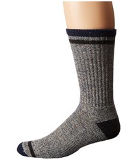 Smartwool Larimer Crew Deep Navy Heather Men's Crew Cut Socks Shoes
