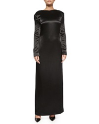 The Row Amrol Long Sleeve V Back Gown