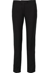 Title A Donna Herringbone Woven Tapered Pants Black