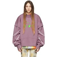 Ambush Pink Patchwork Sweatshirt