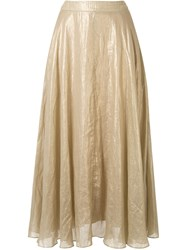 Ginger And Smart Glorious Metallized A Line Skirt 60
