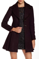 Nanette Lepore Flare And Toggle Wool Coat Red