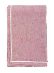 Alessandro Di Marco Cotton Terrycloth Beach Towel Pink Silver