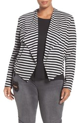 Tart Plus Size Women's 'Veronicka' Stripe Knit Open Front Jacket