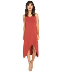 Culture Phit Flynne Sleeveless Cross Bottom Dress Potter's Clay Women's Dress Brown