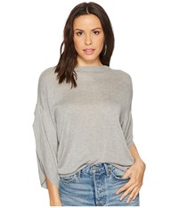 Bishop Young Ruffle Sleeve Sweater Heather Grey Women's Sweater Gray