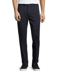 Atm Anthony Thomas Melillo Stretch Knit Pleated Pants Navy