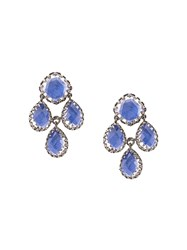 Larkspur And Hawk Antoinette Girandole Cobalt Earrings Blue