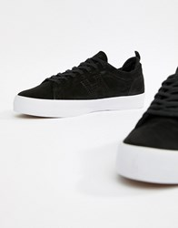 Huf Clive Trainers In Black Suede