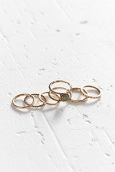 Urban Outfitters Moonstone Ring Pack Gold