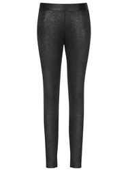 Reiss Stretch Leather Leggings Black