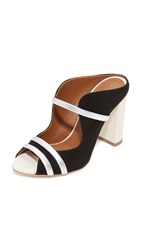 Malone Souliers Maureen Sandals Black White Silver