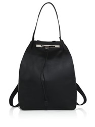 The Row Smooth Leather Backpack 11 White Black