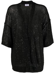 Snobby Sheep Sequin Embroidered Cardigan Black