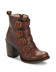 Freebird Banjo Leather Ankle Boots Cognac