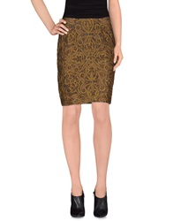 Pauw Knee Length Skirts Dark Brown