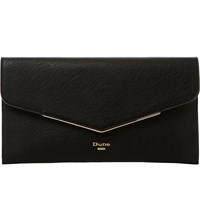 Dune Epeonnie Envelope Clutch Bag Black Plain Synthetic