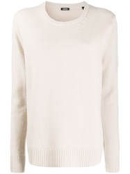 Aspesi Crew Neck Jumper Neutrals